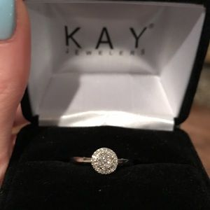 1/4 Carat White Gold Kay Diamond Ring